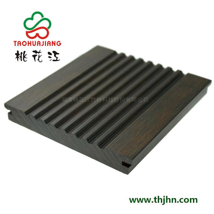 高炭防腐户外竹地板 大沟槽 深炭色