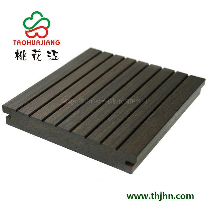 高炭防腐户外竹木地板 小沟槽 深炭色