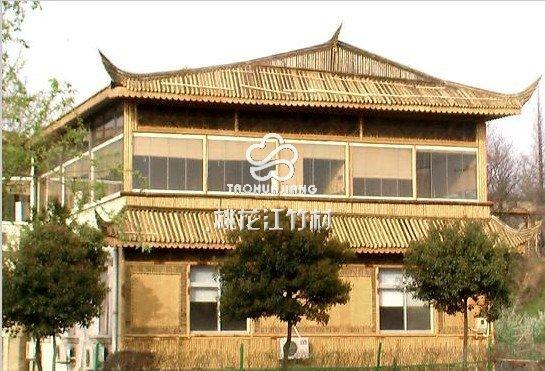 桃花江竹板材应用在景区建筑