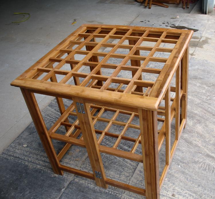 竹烤火架 竹烤火桌子 取暖桌子烤火桌