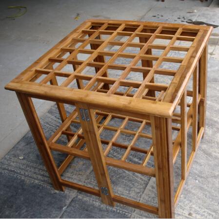 竹烤火架 竹烤火桌子 取暖桌子烤火桌 楠竹双层
